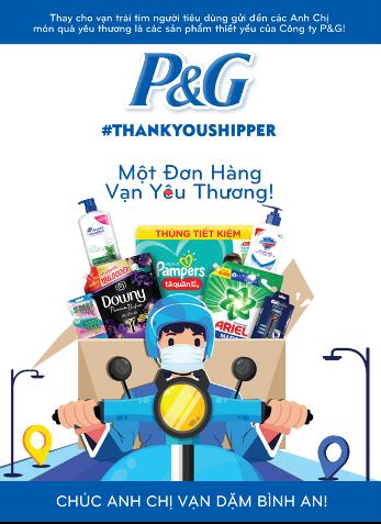 P&G Việt Nam tặng 10,000 phần quà đến các shippers tổng trị giá 2.8 tỷ